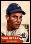 1953 Topps #104  Yogi Berra  Front Thumbnail