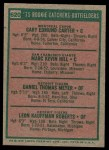 1975 Topps #620   -  Gary Carter / Marc Hill / Danny Meyer / Leon Roberts Rookie Catchers - Outfielders   Back Thumbnail