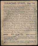 1935 Diamond Stars #78  Joe Kuhel   Back Thumbnail
