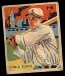 1935 Diamond Stars #75  Irving Burns   Front Thumbnail