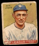 1933 Goudey #81  Sam Jones  Front Thumbnail