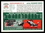 1954 Topps Archives #141  Joey Jay  Back Thumbnail