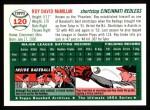 1954 Topps Archives #120  Roy McMillan  Back Thumbnail