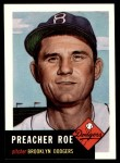 1953 Topps Archives #254  Preacher Roe  Front Thumbnail