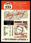 1953 Topps Archives #225  Bobby Shantz  Back Thumbnail