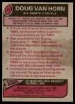1977 Topps #73  Doug Van Horn  Back Thumbnail