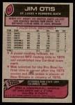 1977 Topps #62  Jim Otis  Back Thumbnail