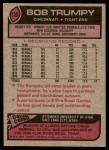 1977 Topps #135  Bob Trumpy  Back Thumbnail