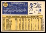 1970 Topps #570  Jim Fregosi  Back Thumbnail
