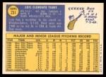 1970 Topps #231  Luis Tiant  Back Thumbnail