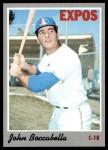 1970 Topps #19  John Boccabella  Front Thumbnail