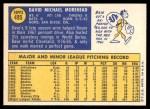 1970 Topps #495  Dave Morehead  Back Thumbnail