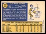 1970 Topps #384  Gary Neibauer  Back Thumbnail