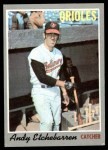 1970 Topps #213  Andy Etchebarren  Front Thumbnail