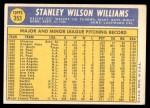 1970 Topps #353  Stan Williams  Back Thumbnail