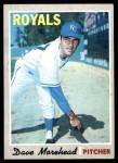 1970 Topps #495  Dave Morehead  Front Thumbnail