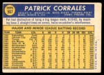 1970 Topps #507  Pat Corrales  Back Thumbnail