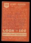 1952 Topps Look 'N See #131  Henry Hudson  Back Thumbnail