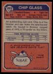 1973 Topps #203  Chip Glass  Back Thumbnail