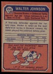 1973 Topps #255  Walter Johnson  Back Thumbnail