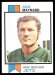 1973 Topps #175  Don Maynard  Front Thumbnail