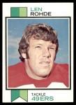 1973 Topps #181  Len Rohde  Front Thumbnail