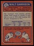 1973 Topps #421  Walt Garrison  Back Thumbnail