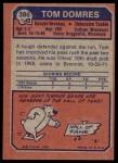 1973 Topps #386  Tom Domres  Back Thumbnail