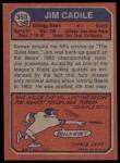 1973 Topps #353  Jim Cadile  Back Thumbnail