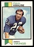 1973 Topps #380  Paul Krause  Front Thumbnail