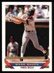 1993 Topps #390  Wade Boggs  Front Thumbnail