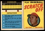 1970 Topps Scratch-Offs  Tony Perez  Front Thumbnail