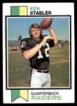 1973 Topps #487  Ken Stabler  Front Thumbnail