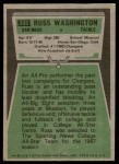 1975 Topps #335  Russ Washington  Back Thumbnail