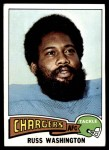 1975 Topps #335  Russ Washington  Front Thumbnail