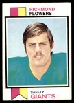 1973 Topps #166  Richmond Flowers  Front Thumbnail