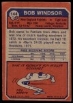 1973 Topps #144  Bob Windsor  Back Thumbnail