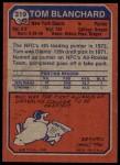 1973 Topps #319  Tom Blanchard  Back Thumbnail
