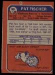 1973 Topps #98  Pat Fischer  Back Thumbnail