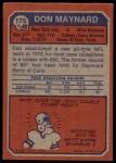 1973 Topps #175  Don Maynard  Back Thumbnail