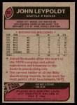 1977 Topps #387  John Leypoldt  Back Thumbnail