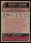 1977 Topps #384  Rickey Young  Back Thumbnail
