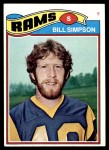 1977 Topps #406  Bill Simpson  Front Thumbnail