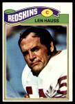 1977 Topps #478  Len Hauss  Front Thumbnail
