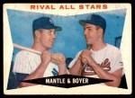 1960 Topps #160   -  Mickey Mantle / Ken Boyer Rival All-Stars Front Thumbnail