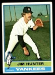 1976 Topps #100  Catfish Hunter  Front Thumbnail