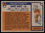 1976 Topps #158  Randy White   Back Thumbnail