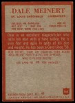 1965 Philadelphia #165  Dale Meinert   Back Thumbnail