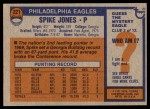 1976 Topps #221  Spike Jones  Back Thumbnail