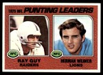 1976 Topps #206   -  Ray Guy / Herman Weaver Punting Leaders Front Thumbnail